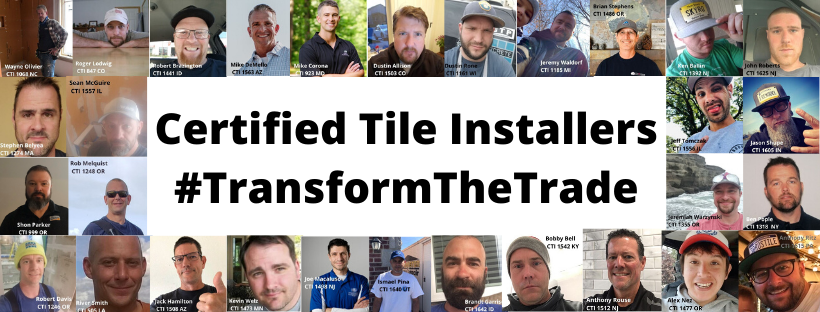 Support CTEF during #GivingTuesday: Certified Tile Installers #TransformTheTrade