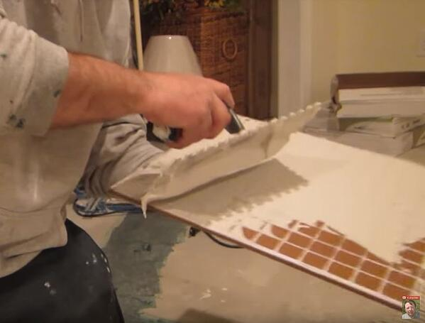 Do you back butter your porcelain and ceramic tile?