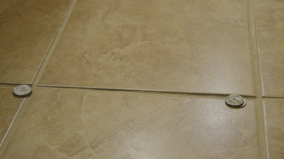 Installation Issue: Excessive Tile Lippage on Floors - closeup