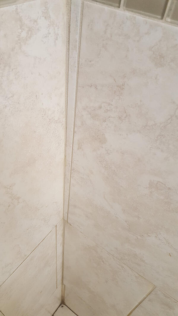 Poorly Balanced Intersecting Wall Tile Patterns