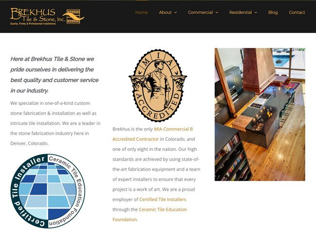 Certified Tile Installers Strengthen Brekhus Tile & Stone Professionalism