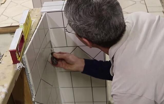 Scott checks expansion joints as they are critical for a high-quality installation.