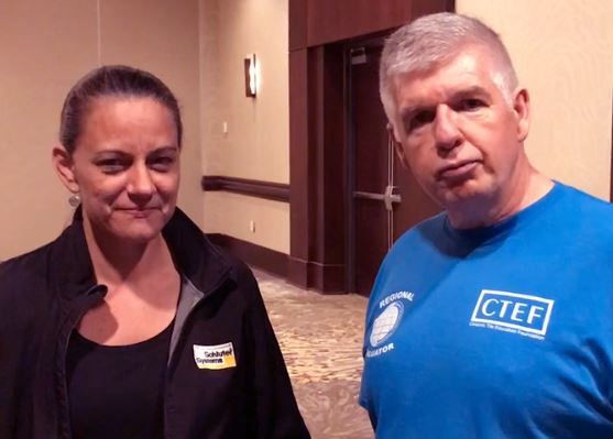 Schluter's Shannon Huffstickler with Kevin Insalato, CTI Regional Evaluator Coordinator