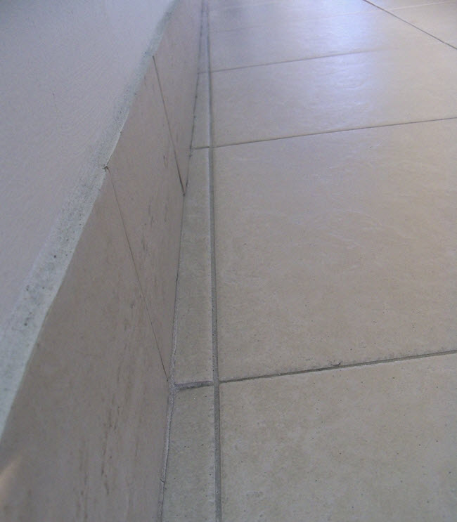 Here's what an unprofessional tile installation layout looks like.