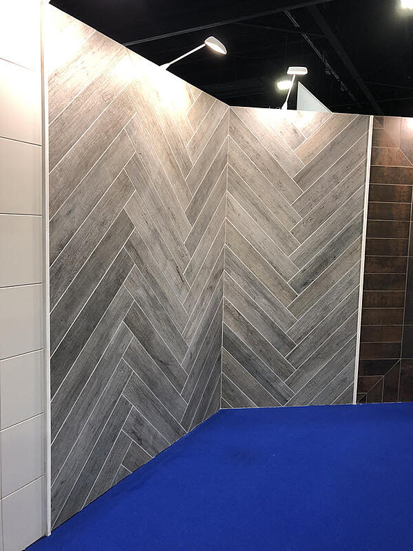 Notice the evenness of the grout lines and the flatness of the tile.