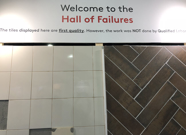Welcome to the Hall of Tile Installation Failures