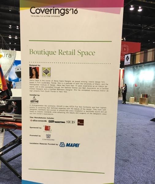 Artcraft Granite, Marble & Tile Company and Alena Capra created a boutique retail space
