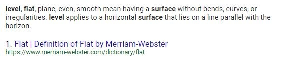 Does the word flat have the same meaning as the word level?