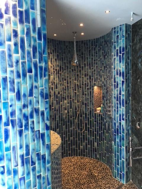 Shower installation by Heritage Marble & Tile
