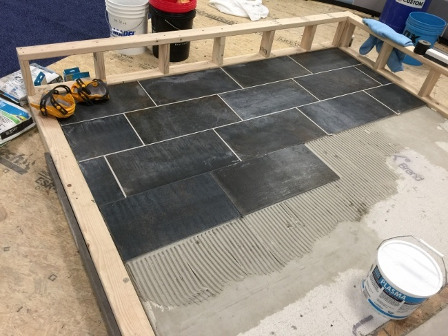 Tile installed correctly