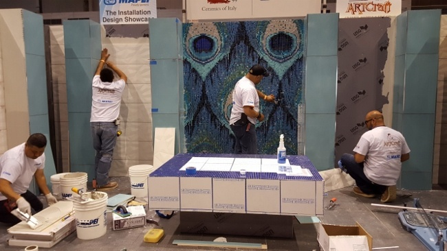 When Expert Tile Installers and Designer Create a Retail Space at Coverings16