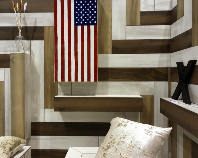 An expert tile installation from Coverings 2016
