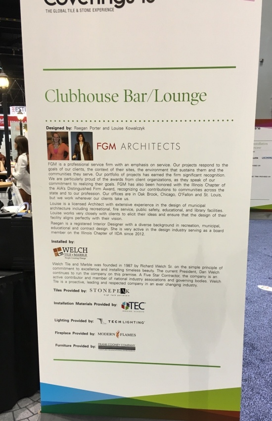 Coverings 2016: Welch Tile and Marble Design Installation Showcase