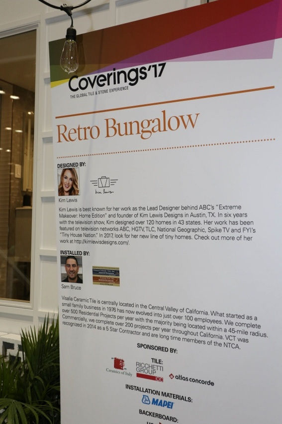 Visalia Ceramic Tile's Sam Bruce Describes the Retro Bungalow Installation Design Showcase