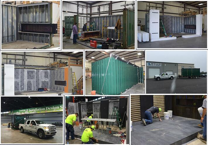 Welch Tile & Marble used a shipping container for its Installation Design Showcase