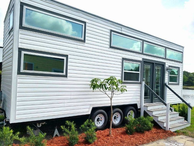 The West Michigan tiny house in its Orlando location