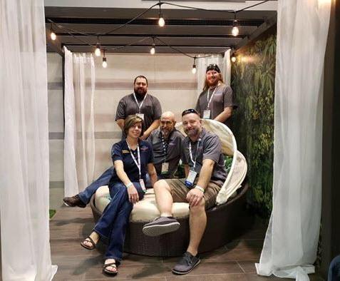 The Nichols Tile & Terrazzo Team for Hidden Oasis