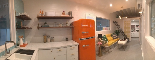 Tile Accentuates Mid-Century Tiny Home Design: Kim Lewis at Coverings17