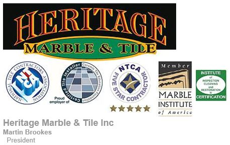 How Heritage Marble and Tile promotes certification - email signature