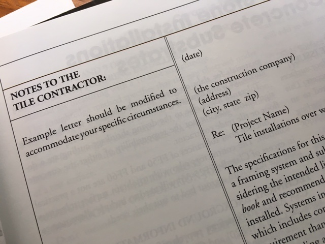 the Manual also contains numerous letter templates that can be used or modified to address common issues in documentation and negotiation on the jobsite