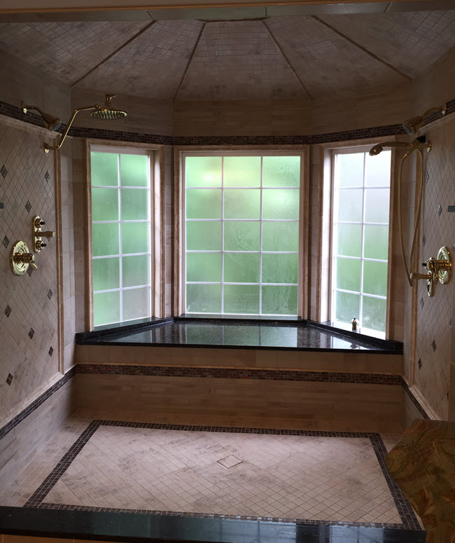 Charles Nolen CTI#1222 created this beautiful tiled bathroom installation
