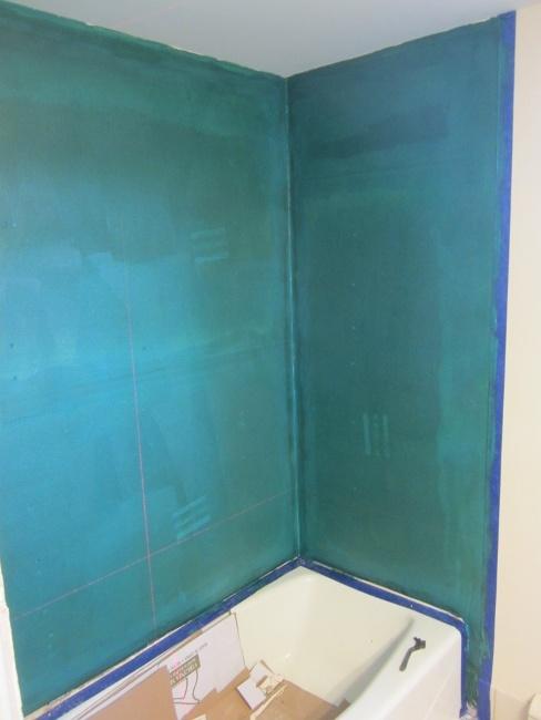 Proper tile shower waterproofing after liquid waterproofing