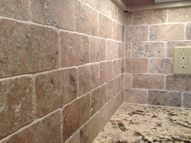 Travertine tile installation by Installations By Alex