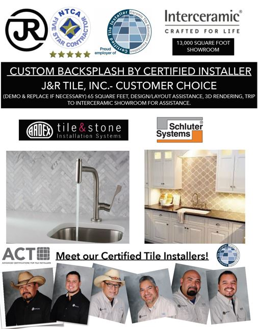 J&R Tile promotes its certified tile installers