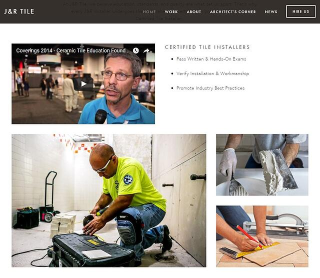J&R Tile: committed to tile installation education and certification
