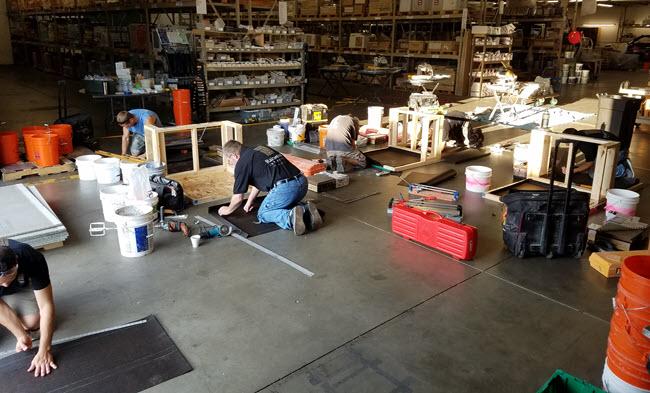 Certified Tile Installer Testing at Sark Tile, Lincoln, Nebraska