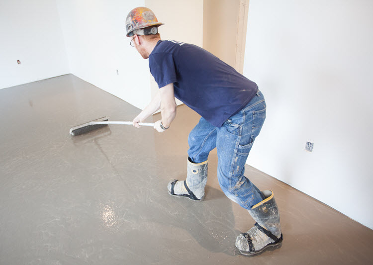 Smoothing out the Self Leveling Underlayment (SLU)