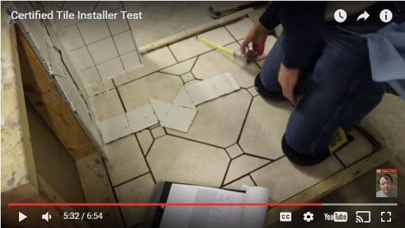 Video Details Hands On Certified Tile Installer Cti Test