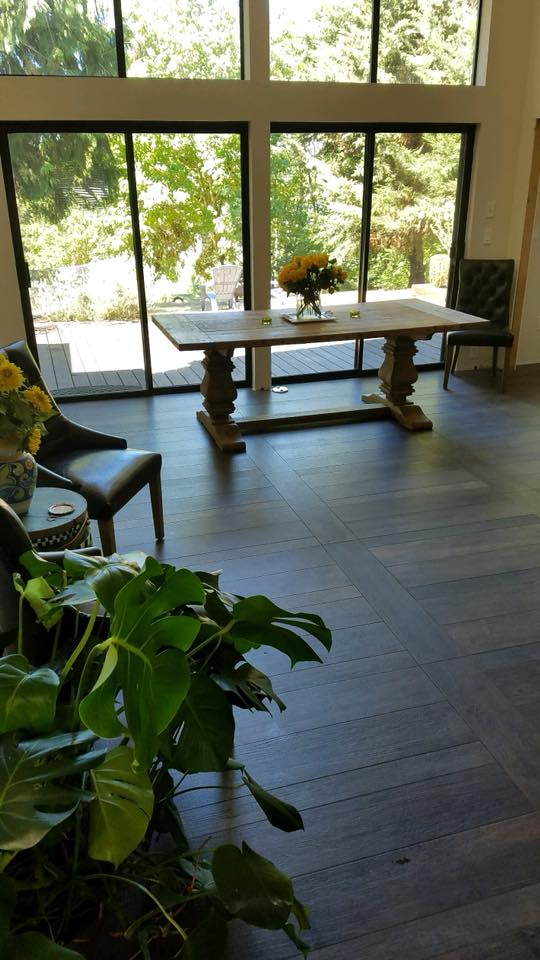 Stoneman Construction wood plank tile installation