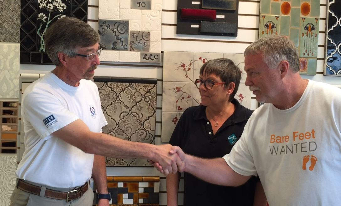 Tile Industry Teamwork in Action at Artistic Tile in Nashua, NH