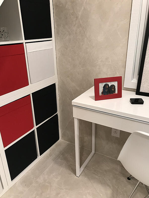 Tiled walls and floors in CG Villa, Coverings 2018