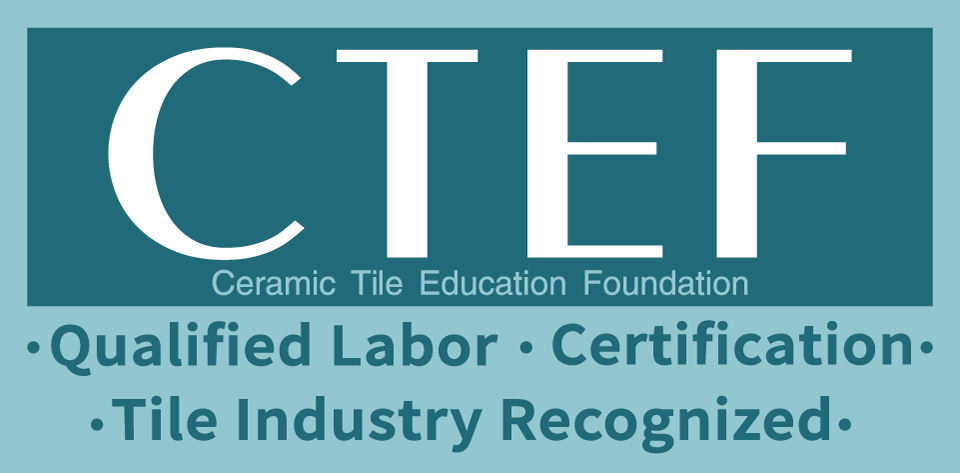 The new CTEF logo represents an evolution in the mission of the CTEF and in the maturity of the tile installation certification programs that CTEF sponsors.
