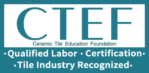 Qualified Labor, Certification, Tile Industry Recognized: The New CTEF Logo