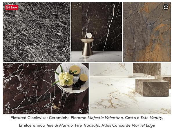 This trend echoes the dark marble looks from earlier in this article.