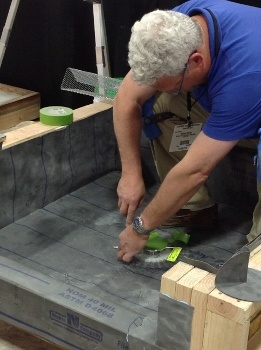 Learn how to properly do mortar shower base and waterproofing when installing tile