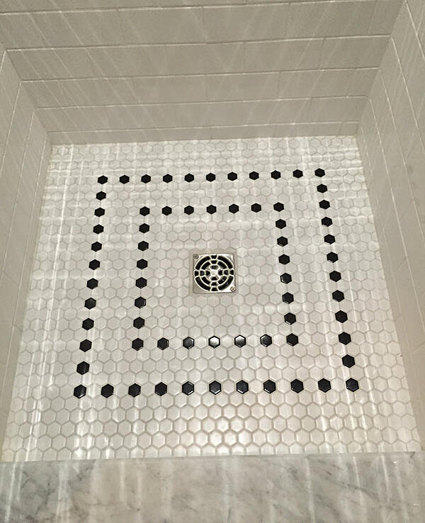 A quality tile installation by a Certified Tile Installer
