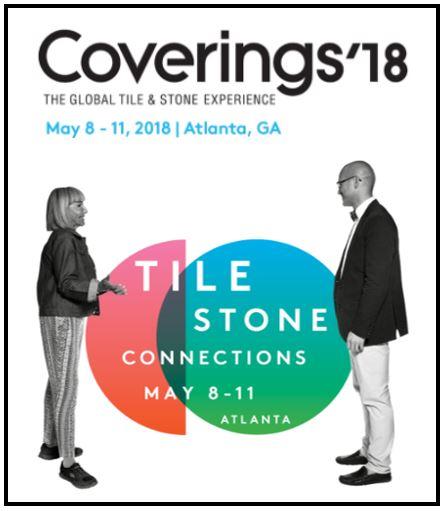 Coverings 2018 May 8-11 in Atlanta, GA
