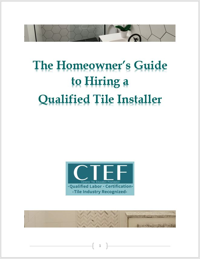 How to Hire a Tile Contractor - Homeowner's Guide