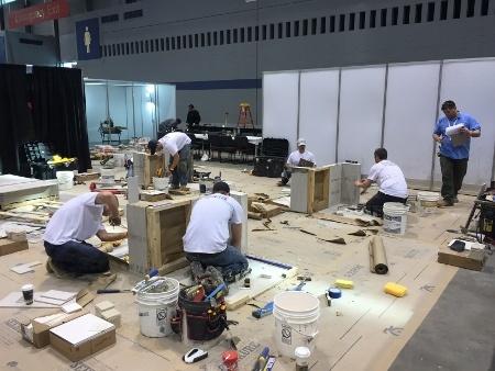 Taking the Certified Tile Installer hands-on test