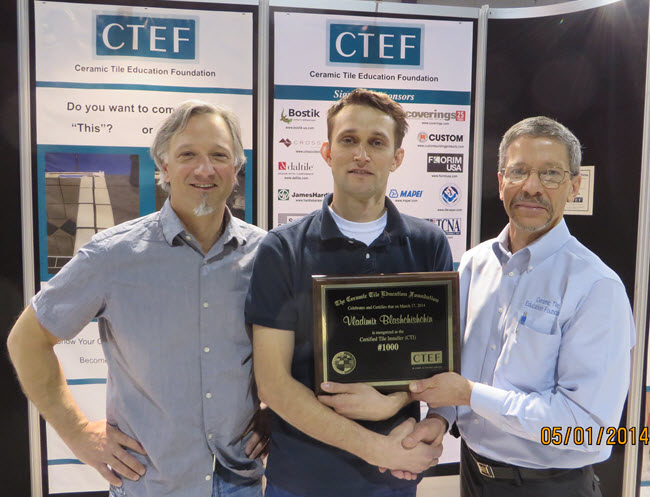 CTEF Certifies 1,000th Tile Installer