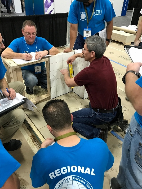 Regional Evaluators are themselves Certified Tile Installers who take additional training to learn each aspect of the CTI hands-on test.
