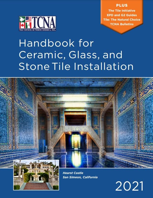The TCNA Handbook provides installation methods to choose from, based on the requirements of the installation or the types of applications in which they may be used.