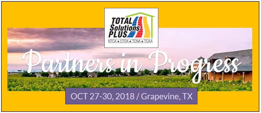 Total Solutions Plus October 27-30, 2018 in Grapevine, Texas