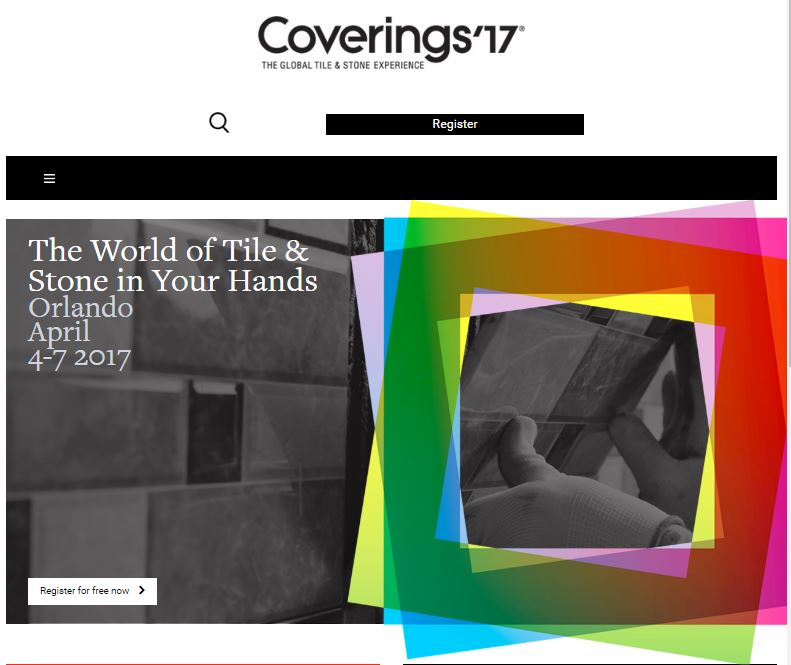 Join CTEF at Coverings 2017 in Orlando, FL, from April 4-7